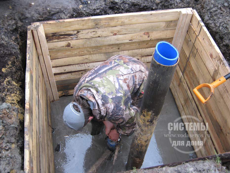 Как сделать кессон на грунтовых водах 237